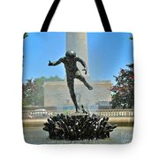 Fountain In Spring Tote Bag