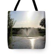Fountain In The Garden Tote Bag