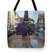 Fountain In Wertheim, Germany Tote Bag