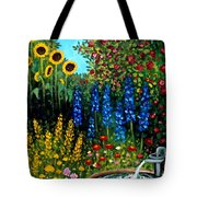 Fountain Of Flowers Tote Bag
