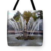 Fountain On The Grounds Of The Peterhof Grand Palace Tote Bag