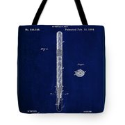 Fountain Pen Patent Drawing  Tote Bag