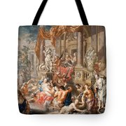 Fountain Scene In Front Of A Palace Tote Bag