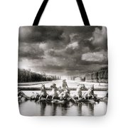 Fountain With Sea Gods At The Palace Of Versailles In Paris Tote Bag
