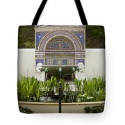 Fountains At The Getty Villa Tote Bag