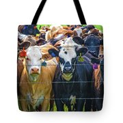 Four At The Fence Tote Bag
