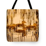 Four Baby Duckies Tote Bag