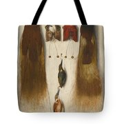 Four Birds Of Paradise And Two Kingfishers Tote Bag