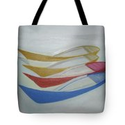 Four Boats And A White One Tote Bag
