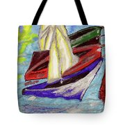 Four Boats Tote Bag