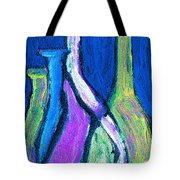 Four Bottle Abstract Tote Bag