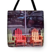 Four Chairs Tote Bag