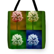 Four Colorful Onion Flower Power Tote Bag