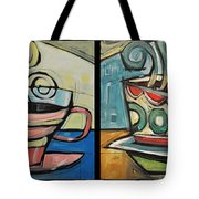 Four Cups Of Java Tote Bag