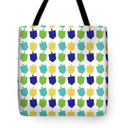 Four Dreidels Pattern- Art By Linda Woods Tote Bag