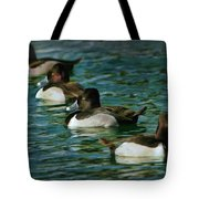 Four Ducks In A Row Tote Bag