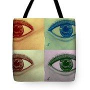 Four Eyes In Pop Art Tote Bag