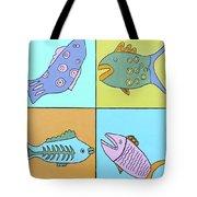 Four Fish Tote Bag