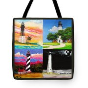 Four Florida Lighthouses Tote Bag