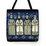 four grandees associated with the court of Nasir al-Din Shah Tote Bag