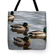 Four Green Heads Tote Bag