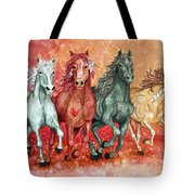 Four Horses Of The Apocalypse Tote Bag