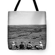 Four Ladies On A Hill Tote Bag by Meirion Matthias