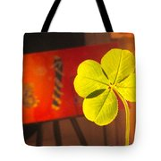 Four Leaf Clover In Studio 1 Tote Bag