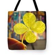 Four Leaf Clover In Studio 2 Tote Bag