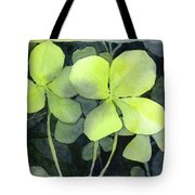 Four Leaf Clover Watercolor Tote Bag