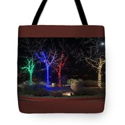 Four Lighted Trees Tote Bag