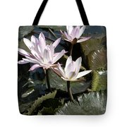 Four Lilies In The Sunlight Tote Bag