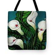Four Long Lilies Tote Bag