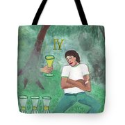 Four Of Cups Illustrated Tote Bag