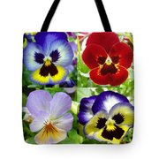 Four Pansies Tote Bag