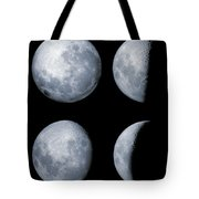 Four Phases Of The Moon Tote Bag by Rolf Geissinger