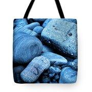 Four Rocks In Blue Tote Bag