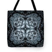 Noir Four Roses Symmetrical Focus Tote Bag
