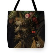 Four Seasons In One Head Tote Bag