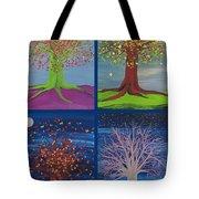 Four Seasons Trees By Jrr Tote Bag