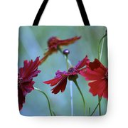 Four Singers And Three Microphones Tote Bag