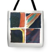 Four Squares Orange Slash Tote Bag