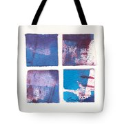 Four Squares Turquoise Flow Tote Bag