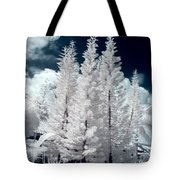 Four Tropical Pines Infrared Tote Bag