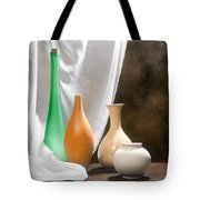 Four Vases I Tote Bag by Tom Mc Nemar