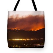 Fourmile Canyon Fire Burning Above North Boulder Tote Bag