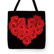 Fourteen Roses Tote Bag by Wim Lanclus
