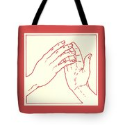 Fourth Station- Jesus Meets His Mother Tote Bag