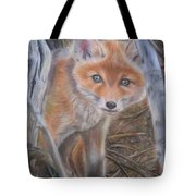 Fox Cub Tote Bag