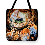 Fox Family Addition Tote Bag